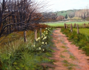 Daffodils Along the Path